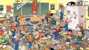 overvolle klas