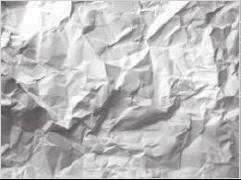 verkreukelde papier